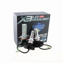 LED KIT X3 HEADLIGHT H4 6000LM 50W