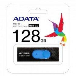 ADATA FLASH USB DRIVE 128GB AUV320-128G-RBKBL, USB3.1, RETRACTABLE, BLACK/BLUE, 5YW.