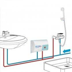 Geyser 2AC25N Ηλεκτρικός ταχυθερμαντήρας μπάνιου με τηλέφωνο και βρύσης 5000 W