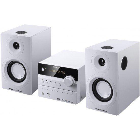 CRYSTAL AUDIO Mini HiFi 3D-HiFi360W Λευκό