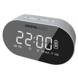 CRYSTAL AUDIO BTC1W BT SPEAKER ALARM CLOCK RADIO ΛΕΥΚΟ