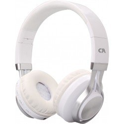 CRYSTAL AUDIO BT-01-WH BLUETOOTH WHITE-SILVER OVER-EAR HEADPHONES