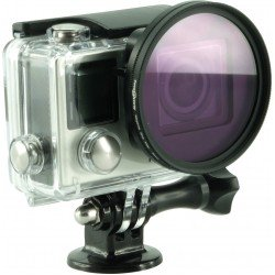 Rollei 21578 Actioncam LensFilterSet for Gopro Hero Cameras, UV- / CPL- / Magenta- & Red-Filter