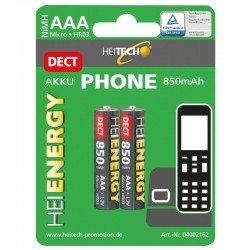 Heitech 04002162 Επαναφορτιζόμενες μπαταρίες για ασύρματα τηλέφωνα ΑΑΑ / LR03 / Micro