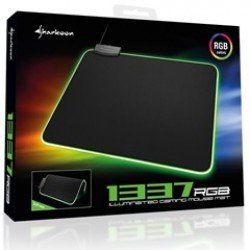 SHARKOON MOUSEPAD 1337 Mat RGB, 359(L)x279(W)X3(H)mm, WITH RGB MULTICOLOR ILLUMINATION, WITH CABLE MANAGMENT.