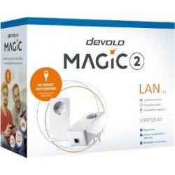 DEVOLO POWERLINE MAGIC 2 LAN 1-1-2 EU STARTER KIT (8267), 2x MAGIC 2 LAN ADAPTER, 2400Mbps, SHUKO, AC POWER OUT SOCKET, 3YW.