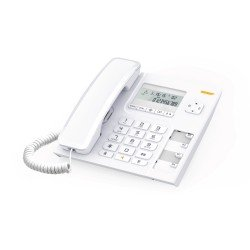Alcatel Ενσύρματο τηλέφωνο με αναγνώριση κλήσης Λευκό Τ56