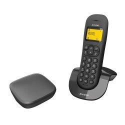 Alcatel Ασύρματο τηλέφωνο με αναγνώριση κλήσης στην αναμονή Μαύρο C250 Invisibase