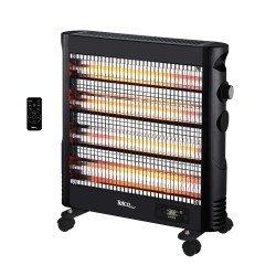 Telco Ηλεκτρική Σόμπα Χαλαζία LX-2466CE Με ERP και Τηλεχειριστήριο Ισχύς 2400W Μαύρη