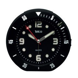Telco Αναλογικό ρολόι με rubber Μαύρο 2809