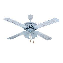 Telco Ανεμιστήρας οροφής με 4 Φτερά και 4 Φώτα σε Χρώμα Λευκό