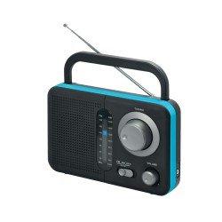 Telco Φορητό ραδιόφωνο μπαταρίας και ρεύματος  Μαύρο με Μπλε TR-412