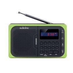 Audioline Ψηφιακό ραδιόφωνο μπαταρίας με USB και κάρτα μνήμης SD TR-210