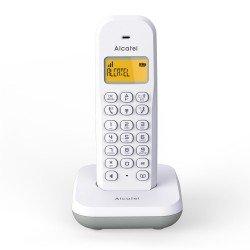 Alcatel Ασύρματο τηλέφωνο με αναγνώριση κλήσης Λευκό με Γκρι Dect E195