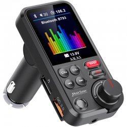Akai FMT-93BT FM transmitter με Hands Free, QC φορτιστή αυτοκινήτου, Bluetooth, Aux-In / Out, micro SD, και 2 USB