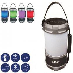 Akai ABTS-S38 Φορητό ηχείο Bluetooth πολύχρωμο φανάρι LED και powerbank με Aux-In και USB – 19 W