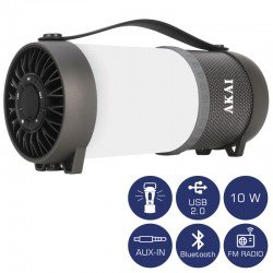 Akai ABTS-40 Φορητό ηχείο Bluetooth και φανάρι LED – 10 W