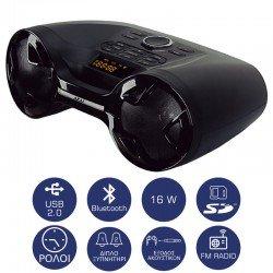 Akai APRC-20BG Φορητό ηχείο Bluetooth με USB, SD και Aux-In – 16 W