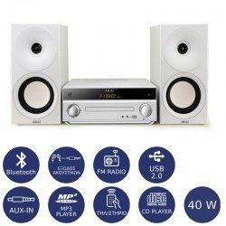 Akai AM-301W Micro HiFi με Bluetooth, USB, Aux-In και CD player 40 W