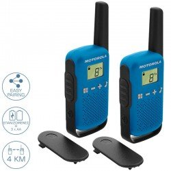 Motorola TALKABOUT T42 Walkie Talkie Μπλε 4 km