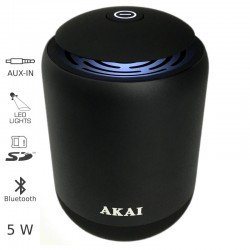 Akai ABTS-S4 Μεταλλικό ηχείο Bluetooth με LED, USB, κάρτα SD και Aux-In – 5 W