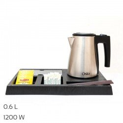 Osio OTK-1140 Δίσκος καλωσορίσματος με βραστήρα Inox 0.6 L – 1200 W