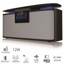 Akai ABTS-M10 Φορητό ηχείο Bluetooth και διπλό ξυπνητήρι με Aux-In, micro SD,ραδιόφωνο και USB – 12 W
