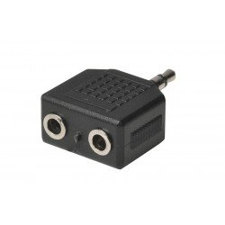 Heitech 09004031 Αντάπτορας 3.5 mm σε διπλό 3.5 mm