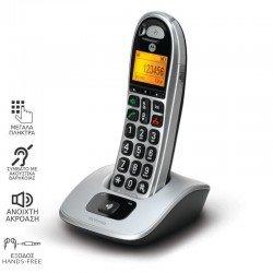 Motorola CD301 (Ελληνικό Μενού) Ασύρματο τηλέφωνο συμβατό με ακουστικά βαρηκοΐας με υποδοχή Hands Free