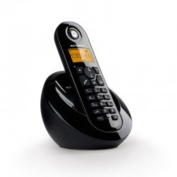 Motorola C601 Μαύρο (Ελληνικό Μενού) Ασύρματο τηλέφωνο με ανοιχτή ακρόαση