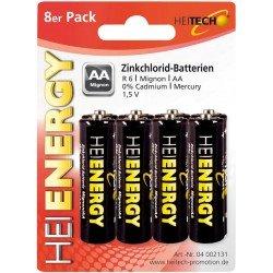 Heitech 04002131 Μπαταρίες Zinc Carbon 8 τμχ AΑ 1.5 V