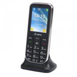Olympia JOY II Black GR (Ελληνικό Μενού) Κινητό τηλέφωνο για ηλικιωμένους με κουμπί SOS, κάμερα και Bluetooth