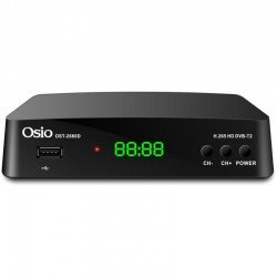 Osio OST-2660D DVB-T/T2 Full HD H.265 MPEG-4 Ψηφιακός δέκτης με USB και χειριστήριο για TV & δέκτη