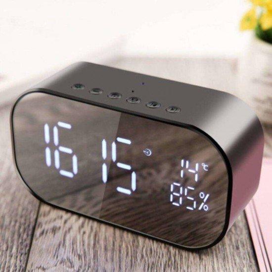 Akai ABTS-S2 BK Ξυπνητήρι και ηχείο Bluetooth με Aux-In, micro SD, ραδιόφωνο και USB για φόρτιση / μουσική – 6 W