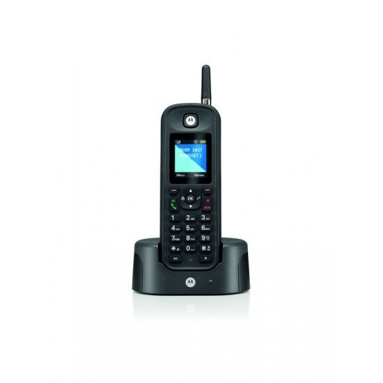 Motorola O-201 BLACK GR (Ελληνικό Μενού) Αδιάβροχο ασύρματο τηλέφωνο με εμβέλεια έως και 1 km